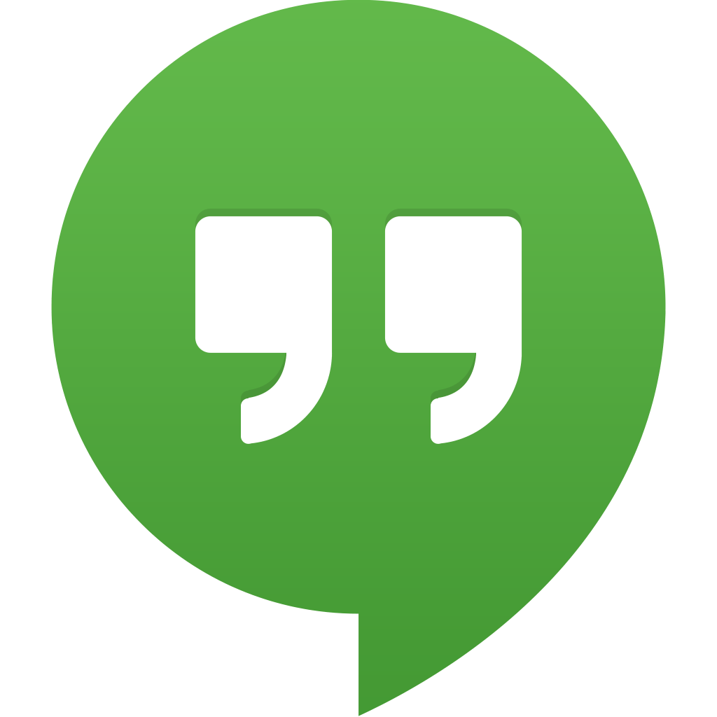 social media content google hangout